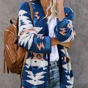 GOSOPIN Women Open Front Pocket Cardigan Sweater Long Sleeve Knit Coat